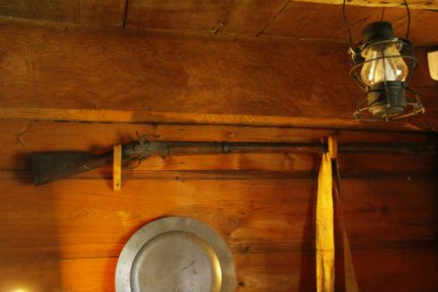 Nathaniel Bradstreet's rifle, used in the Revolutionary War
