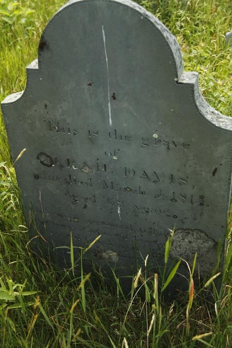 sarah davis headstone