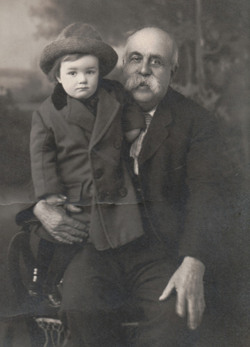 Albert J. Stanwood and unknown boy