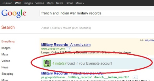 Let Google search your Evernote files