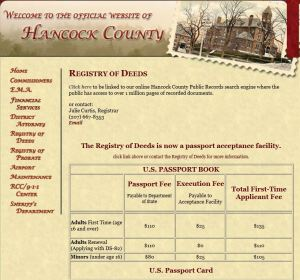 Hancock County Maine Registry of Deeds