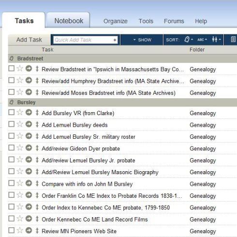 ToodleDo for genealogy!