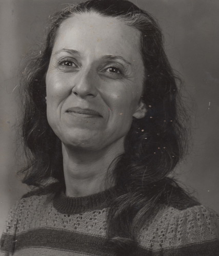 A picture of my mother taken when she and my aunt were attending a photography class.  My only copy had spots on mom's face.