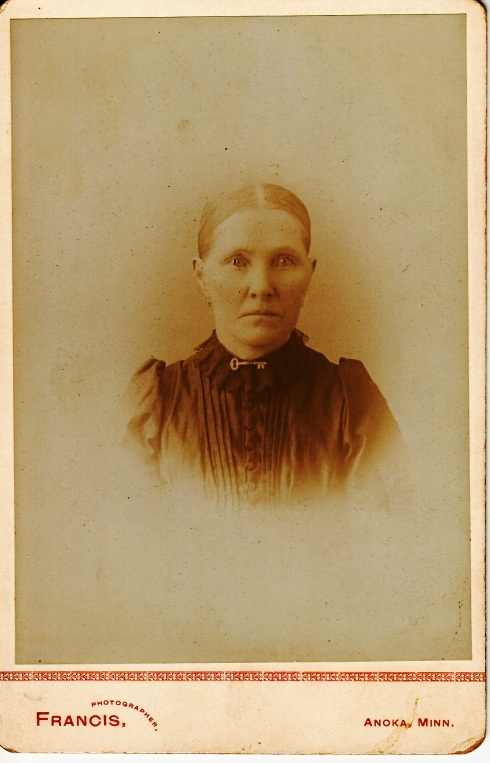 Unknown female, taken at Francis Studio in Anoka, Minnesota.