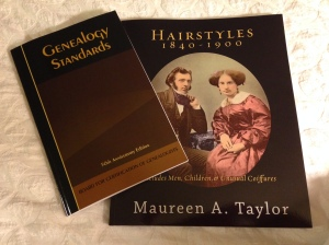 Hot off the press and available today at NGS - the new Genealogy Standards, and Hairstyles 1840-1900.  I've been waiting for both!