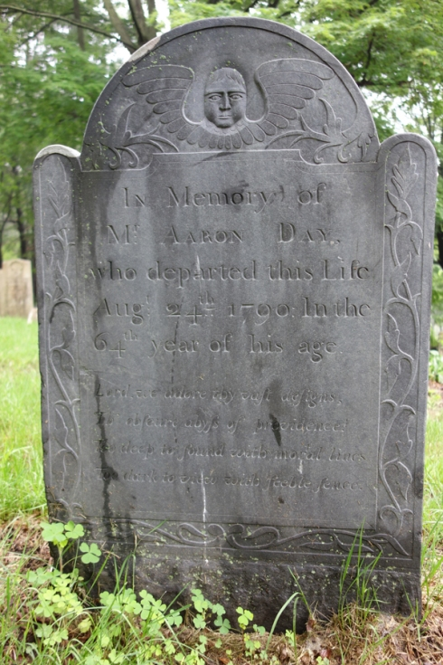 Headstone of Aaron Day who drowned in 1790.