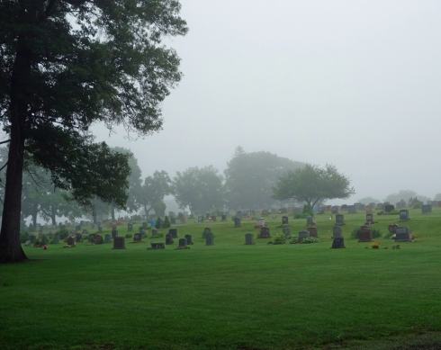 Highland Cemetery, the new section of the Old Burying Ground.