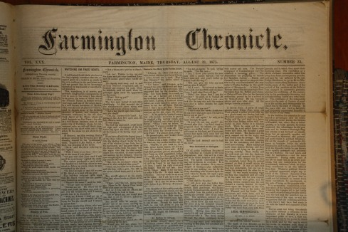 Bound issue of the Farmington (Maine) Chronicle