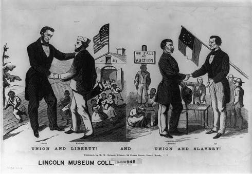 Anti-McClellan broadside gives impression the Union was always the friend of the slaves.
