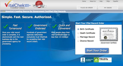 You can order birth, death and marriage certificates online and receive them in just days