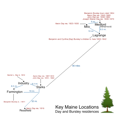 Map of Days in Maine