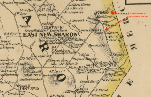 East New Sharon, Maine, 1861 map (source: Library of Congress)