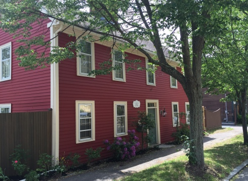 Ipswich Town Historian led a walking tour of the town in June 2015. The Caldwell home was built by Lavina's Day ancestors.