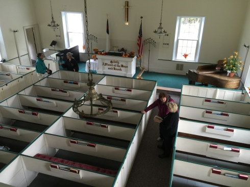 Thanks to the Readfield and Manchester Historical Societies, we were invited for a tour of the inside of historic church.