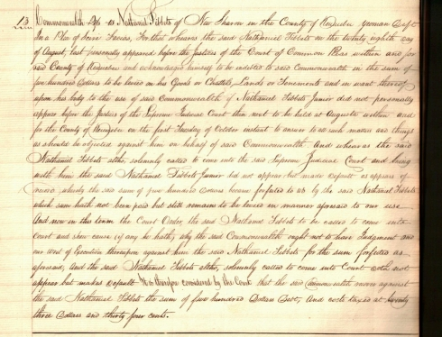 Court records from 1806