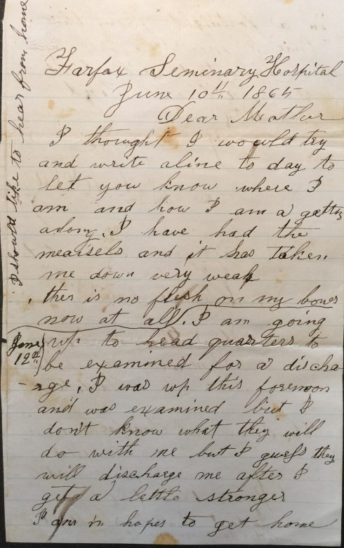 June 10th 1865 - Page 1