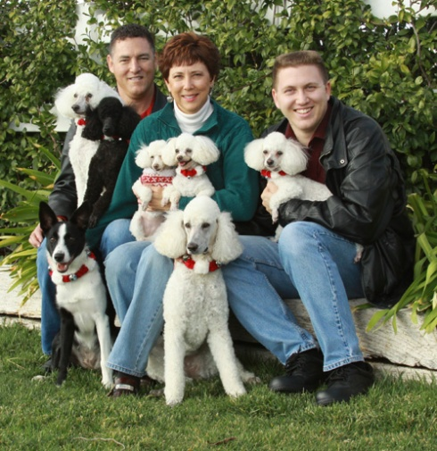 Christmas 2011. Human and four footed family members (including my Border Collie, Boo).