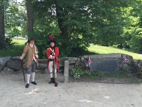 A Patriot and a Red Coat in Concord, Massachusetts