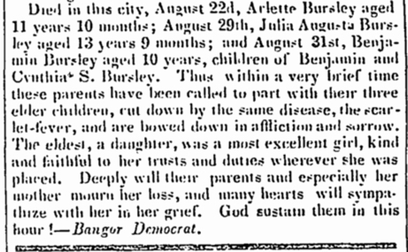 BURSLEY_Benjamin_b1810_death_announcement_children
